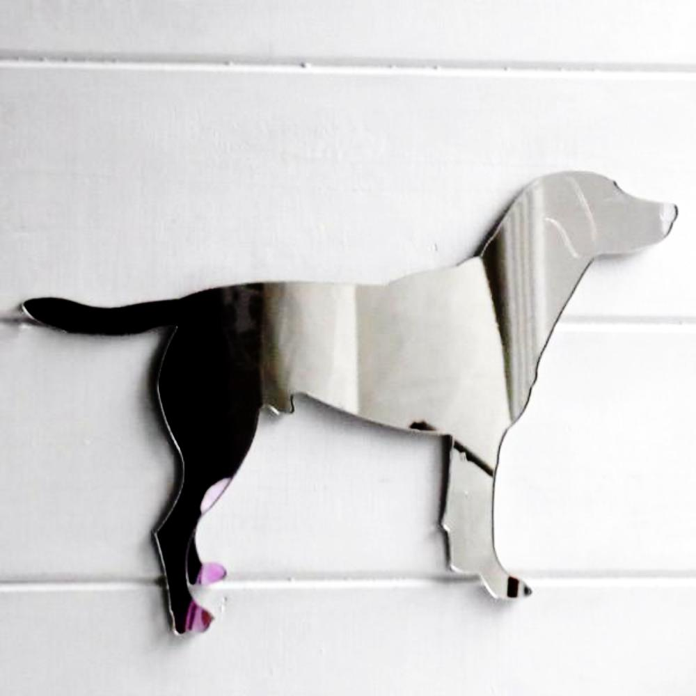 Melvin The Working Labrador Dog Acrylic Mirror - Suave Petal
