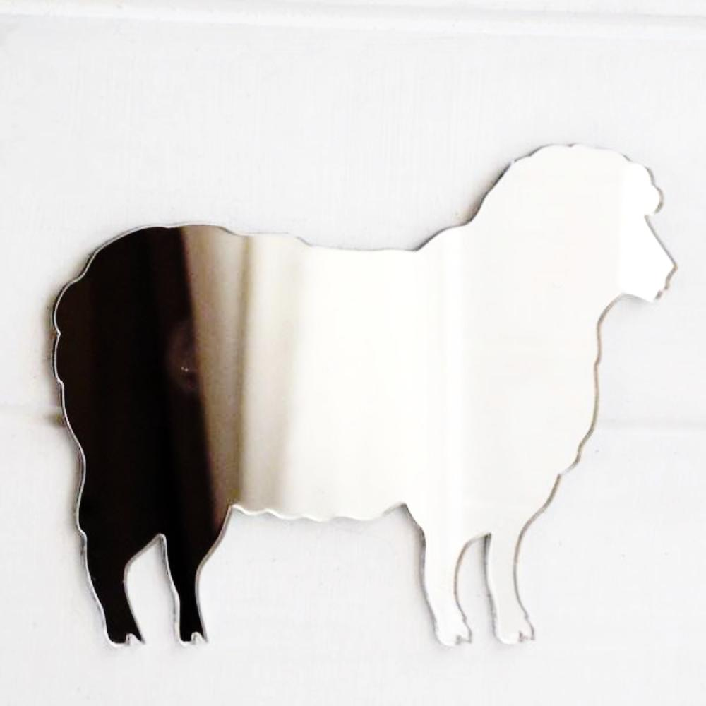Farm Yard Sheep Acrylic Mirror - Suave Petal