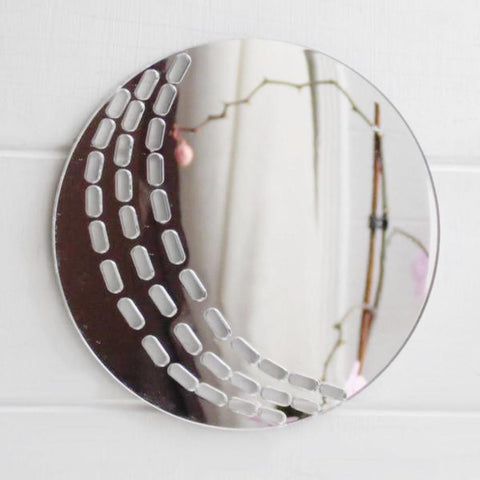 Cricket Ball Acrylic Mirror - Suave Petal