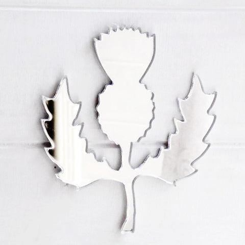 Scottish Thistle Acrylic Mirror - Suave Petal