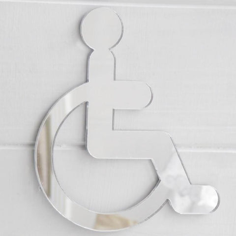 Disabled Wheelchair Door Sign in Acrylic Mirror - Suave Petal