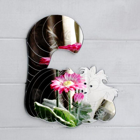 Grinning Cheshire Cat Handmade Acrylic Mirror - Suave Petal