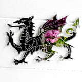 Welsh Dragon Engraved Acrylic Mirror - Suave Petal