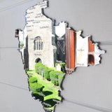 County Map of DEVON UK Engraved Acrylic Mirror - Suave Petal