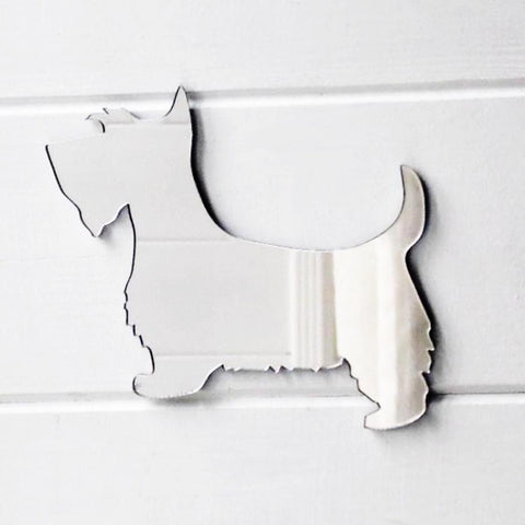 Scottish Terrier / Aberdeen Terrier  / Scottie Dog Acrylic Mirror - Suave Petal