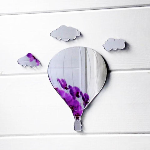 Hot Air Balloon and Clouds Acrylic Mirror - Suave Petal