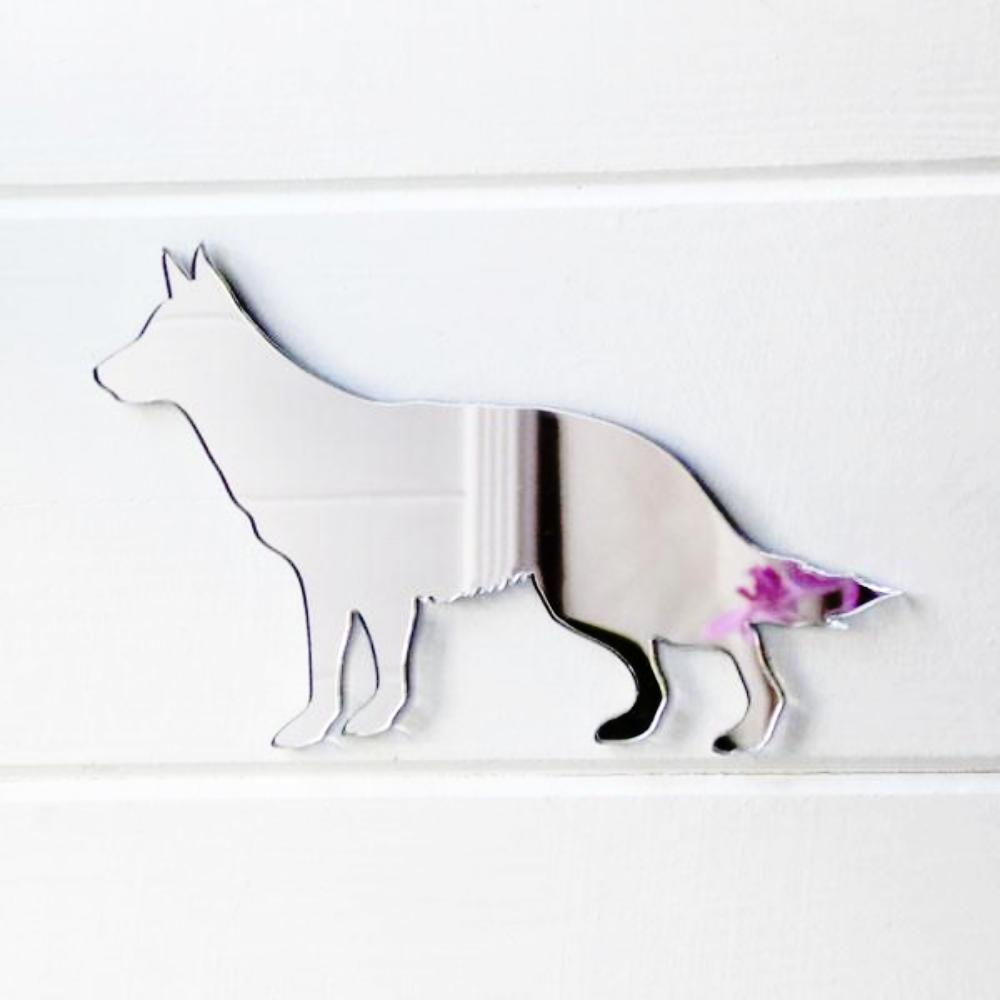 German Shepherd  Dog Side Profile Acrylic Mirror - Suave Petal