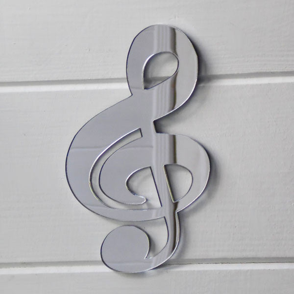 Music Note - Treble Clef Acrylic Mirror - Suave Petal