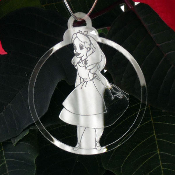 6 Pk Handmade ALICE IN WONDERLAND Acrylic Christmas Decorations - Suave Petal