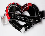 Heart & Banner FRILLY I LOVE YOU Acrylic Mirror - Suave Petal