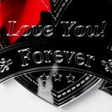 Heart & Banner LOVE YOU FOREVER Acrylic Mirror - Suave Petal