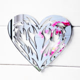 Tribal Tattoo Love Heart Acrylic Mirror - Suave Petal