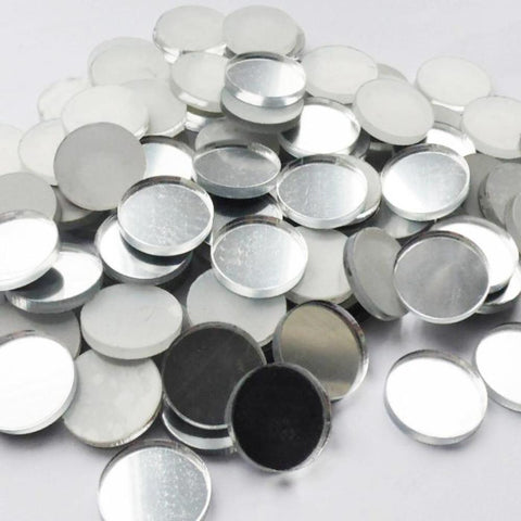3cm Rounded Circle Acrylic Mirror Mosaic Tiles - Suave Petal