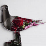 Seagull on Harbour Post Acrylic Mirror - Suave Petal