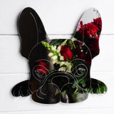 French Bulldog Cute Face Acrylic Mirror - Suave Petal