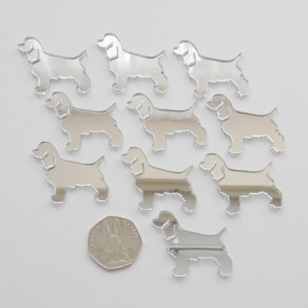 Cocker Spaniel Dog Mini Craft Sized Acrylic Mirrors (10Pk) - Suave Petal
