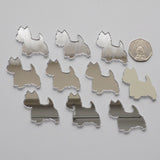 Westie / West Highland Terrier Dog Mini Craft Sized Acrylic Mirrors (10Pk) - Suave Petal