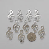 Treble Clef Music Note Mini Craft Sized Acrylic Mirrors (10Pk) - Suave Petal