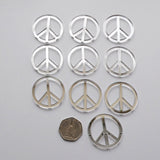 Peace Symbol Mini Craft Sized Acrylic Mirrors (10Pk) - Suave Petal