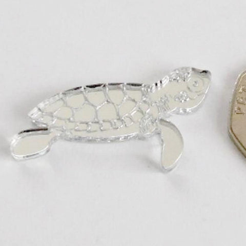 Turtle Swimming Mini Craft Sized Acrylic Mirrors (10Pk) - Suave Petal