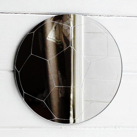 Soccer Ball / Football Engraved Acrylic Mirror - Suave Petal