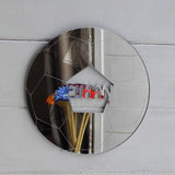 Soccer Ball / Football Acrylic Mirror Personalised with a Cut-Out Name - Suave Petal
