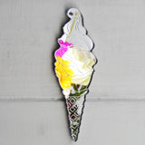 Seaside Beach Ice Cream Waffle Cone Acrylic Mirror - Suave Petal