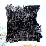 Fairy Tree House Engraved with Butterflies & Flowers Acrylic Mirror - Suave Petal