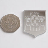 Barnstaple (UK) Castle Coat of Arms Mini Craft Sized Acrylic Mirrors (10Pk) - Suave Petal