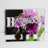 Bathroom Vanity Shelf Acrylic Mirrored Door Sign - Suave Petal