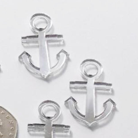 Ships Anchor Mini Craft Sized Acrylic Mirrors (10Pk) - Suave Petal