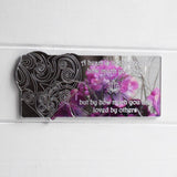 Judged Heart and Quote Acrylic Mirror - Suave Petal