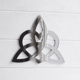 Triquetra with Heart / Celtic Trinity Knot Symbol Acrylic Mirror Sign - Suave Petal