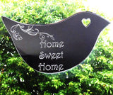 Floral Dove Acrylic Mirror Door or Wall Sign - HOME SWEET HOME - Suave Petal