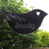 Floral Dove Acrylic Mirror Door or Wall Sign - STUDY - Suave Petal