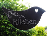 Floral Dove Acrylic Mirror Door or Wall Sign - KITCHEN - Suave Petal