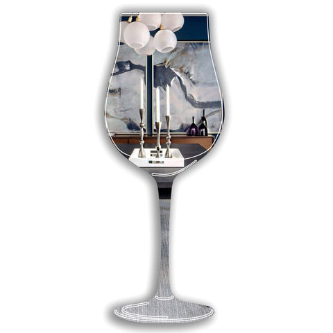Wine Glass Acrylic Mirror