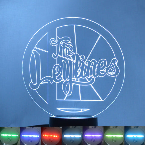 The Leylines Circle Logo and Name Colour Changing LED Acrylic Light - Suave Petal