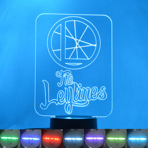 The Leylines Rectangle Name and Logo Colour Changing LED Acrylic Light - Suave Petal