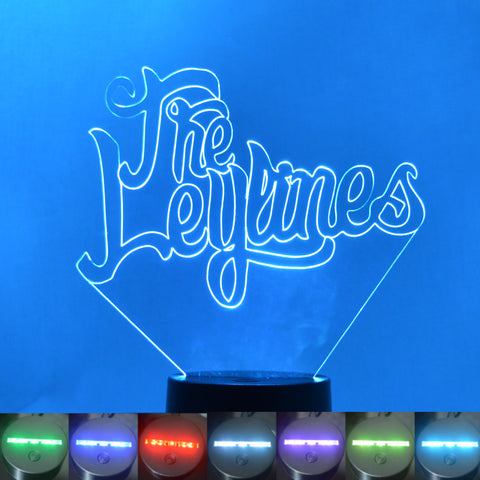 The Leylines Name Colour Changing LED Acrylic Light - Suave Petal