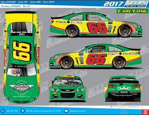 Official 3-D renderings of NASCAR MENCS driver Carl Long's Veedverks car