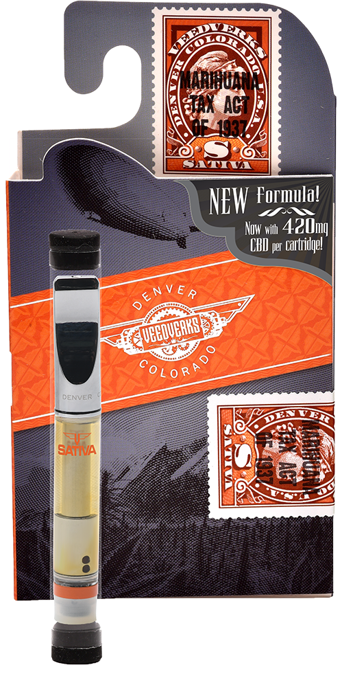 Veedverks 420mg Industrial Hemp Extract Vape Cartridge 1ml (Sativa)