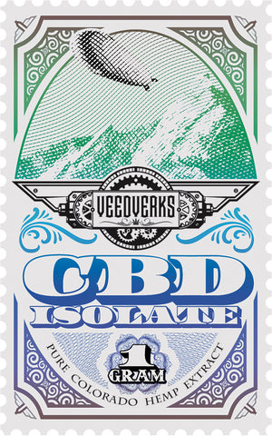 Veedverks industrial hemp CBD isolate sticker