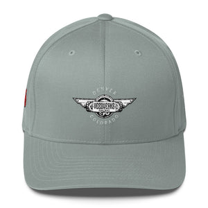 Gray Veedverks Racing Carl Long #66 Structured Twill Cap, Front