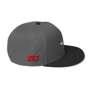 Charcoal gray/black Veedverks Racing Carl Long #66 Snapback Cap, Right Side Number 66