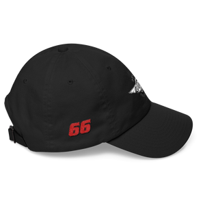 Black Veedverks Racing Carl Long #66 Classic Cap, Right Side Number 66