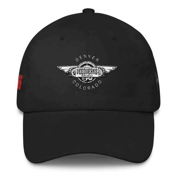 Black Veedverks Racing Carl Long #66 Classic Cap, Front