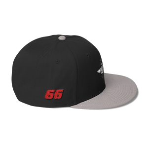 Black/gray Veedverks Racing Carl Long #66 Snapback Cap, Right Side Number 66