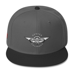 Charcoal gray/black Veedverks Racing Carl Long #66 Snapback Cap, Front