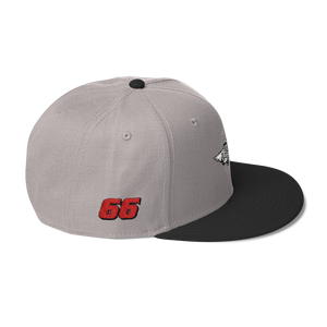 Gray/black Veedverks Racing Carl Long #66 Snapback Cap, Right Side Number 66